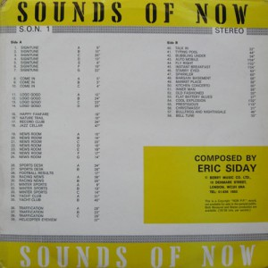 Eric Siday ‎– Sounds Of Now 1